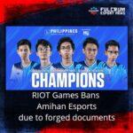 Amihan Esports gets hit by Riot's Ban Hammer